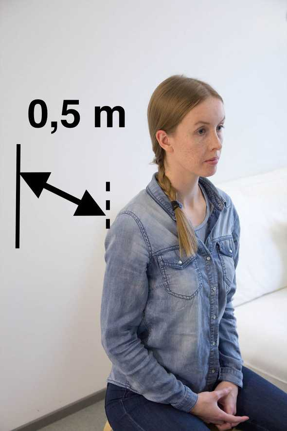 Picture illustrating a recommended distance between background and the subject.