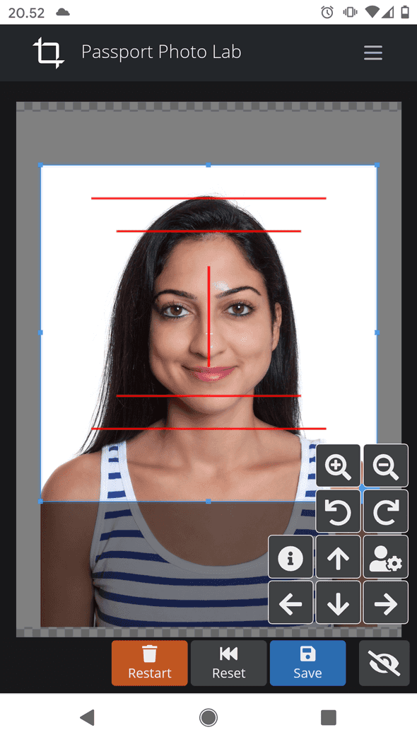 Passport Photo Lab screenshot on a mobile device